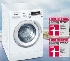 Waschmaschinen Test 2011 Testsieger Foto: Siemens